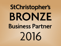 We are a St Christopher's bronze Business Partner 2016