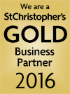 We are a St Christopher's Gold Business Partner 2016