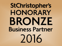 We are a St Christopher's Honorary bronze Business Partner 2016