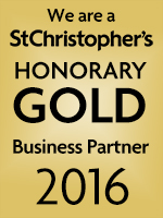 We are a St Christopher's Honorary Gold Business Partner 2016