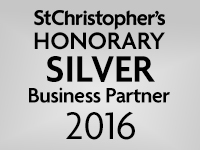 We are a St Christopher's Honorary silver Business Partner 2016