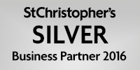 We are a St Christopher's silver Business Partner 2016