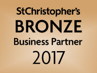 We are a St Christopher's bronze Business Partner 2017