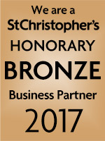 We are a St Christopher's Honorary bronze Business Partner 2017