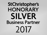 We are a St Christopher's Honorary silver Business Partner 2017