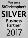 We are a St Christopher's silver Business Partner 2017