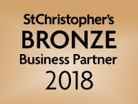 We are a St Christopher's bronze Business Partner 2018