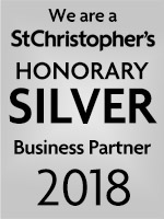 We are a St Christopher's Honorary silver Business Partner 2018