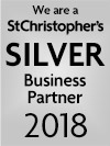 We are a St Christopher's silver Business Partner 2018