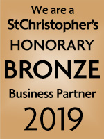 We are a St Christopher's Honorary bronze Business Partner 2019