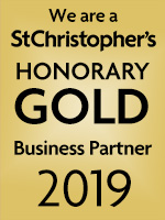 We are a St Christopher's Honorary Gold Business Partner 2019