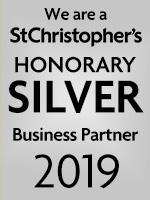 We are a St Christopher's Honorary silver Business Partner 2019