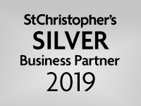 We are a St Christopher's silver Business Partner 2019