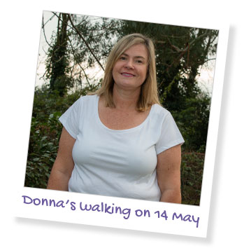 Donna is walking for her dad