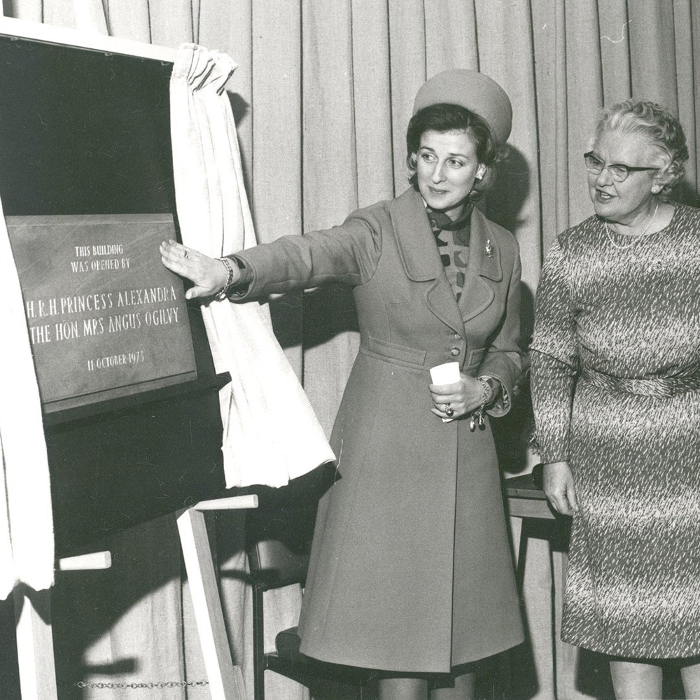 RH Princess Alexandra opened our Education Centre in 1973