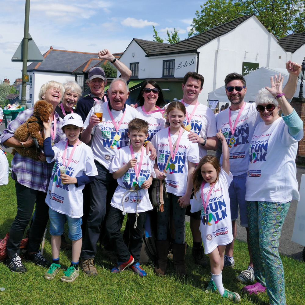 423 walkers took part in our first Fun Walk on 6 May 1990. They raised £29,000.