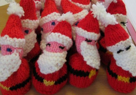 Knitted Father Christmases