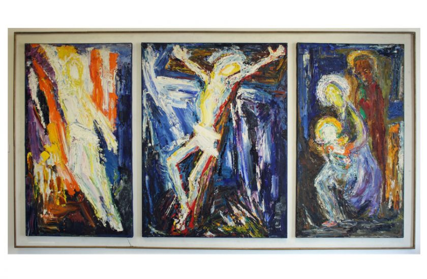 The Triptych – 1967, oil on canvas