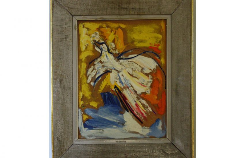 White Dove – 1972, Oil on canvas