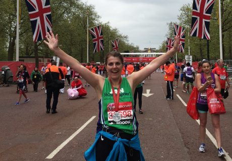 Jan Noble ran the London Marathon in 2015