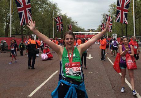 Jan Noble ran the London Marathon in 2015