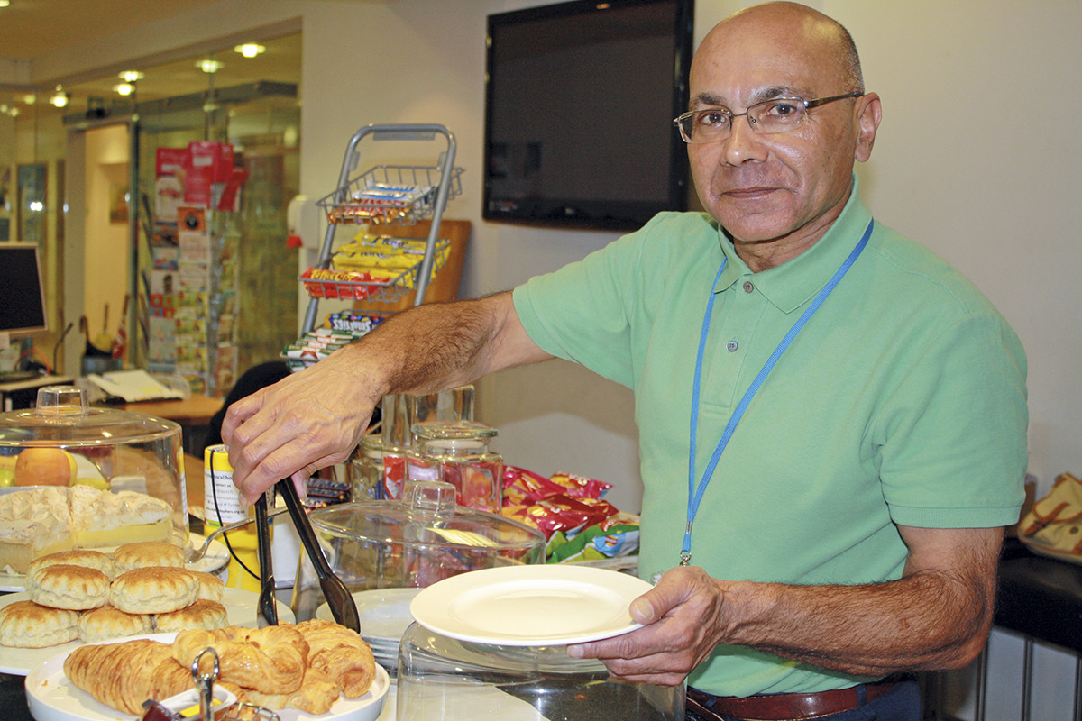 Anniversary Centre volunteer Firoz