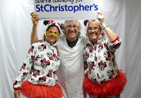Supporters Justine Hoffman, Geoffrey Smith and Alison Jaggs have completed St Christopher's Midnight Walk