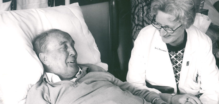 Dame Cicely Saunders with patient