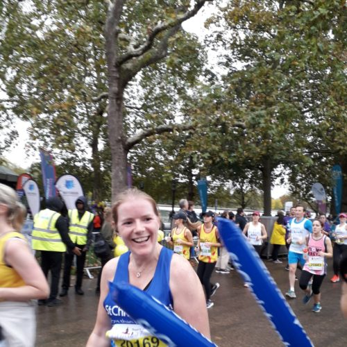 Christine Davies running the Big Half