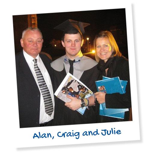 Alan, Craig and Julie
