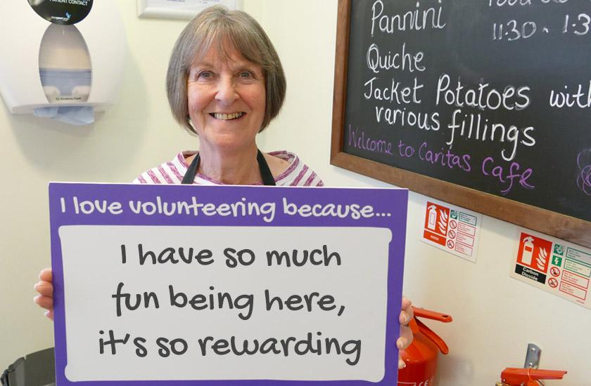 Volunteer Ann Butler