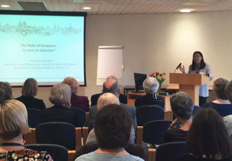 Professor Bee Wee talking at St Christopher's 50 years of Education conference
