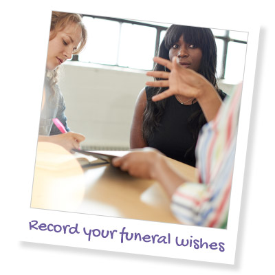 record your funeral wishes
