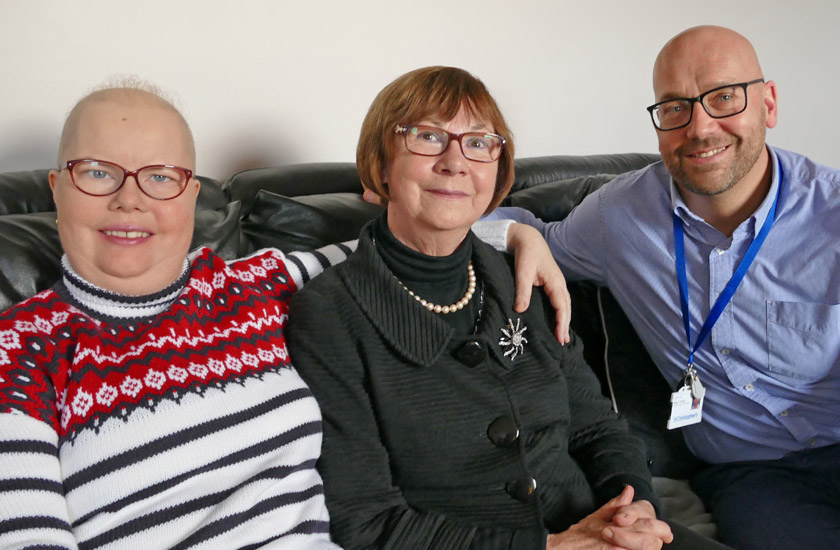 Rebecca, Bridie and Nigel Dodds
