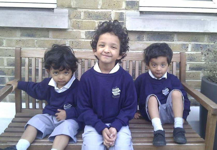 (L-R) Simran and Kashmir lost their brother Sarayan when he was just three years old