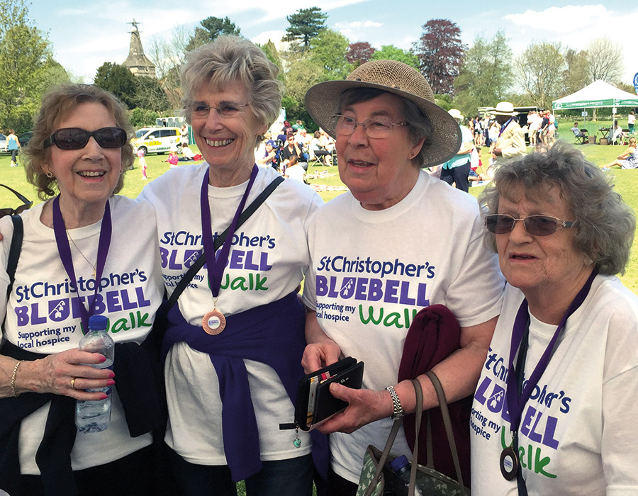 (L-R) Volunteers Gill, Anne, Peggy and Betty (known as 'Little Bet')