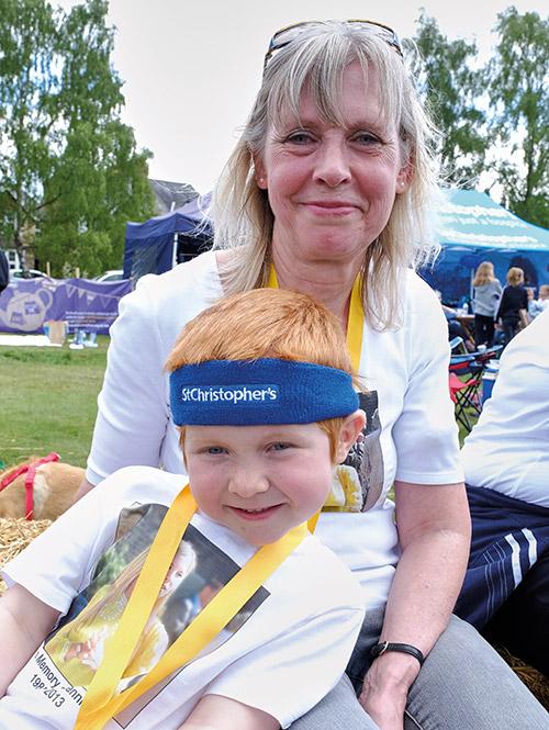 William with his grandma Debbie