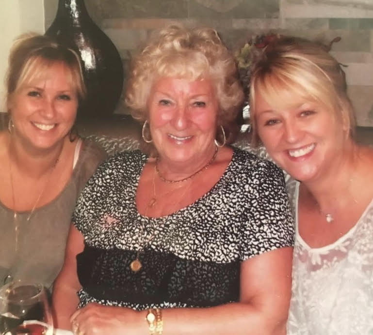 Lisa Mahoney and Jane Poole with their mum
