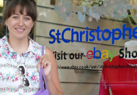 Molly wearing a summer dress picked up in our Petts Wood shop