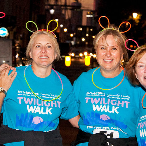 Sisters Lisa and Jane took part in the Twilight Walk in memory of their mum