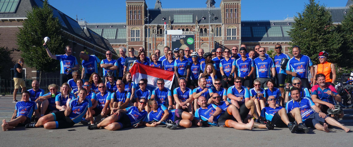 London to Amsterdam cyclists 2019