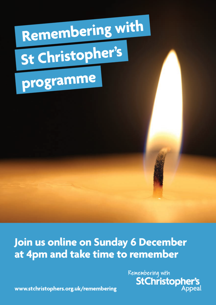 Remembering with St Christophers programme Page