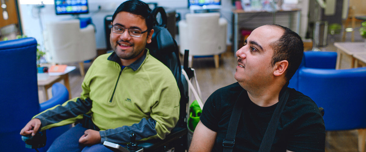 Adil meets up with his friend Ahmet, at the Saturday Young Adult sessions