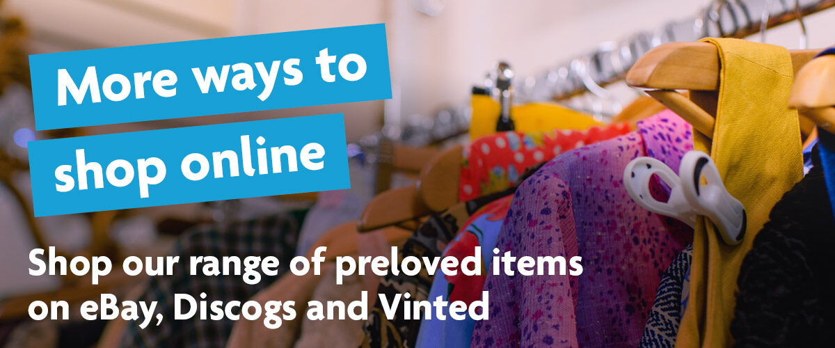Shop our range of preloved items on eBay, Discogs and Vinted