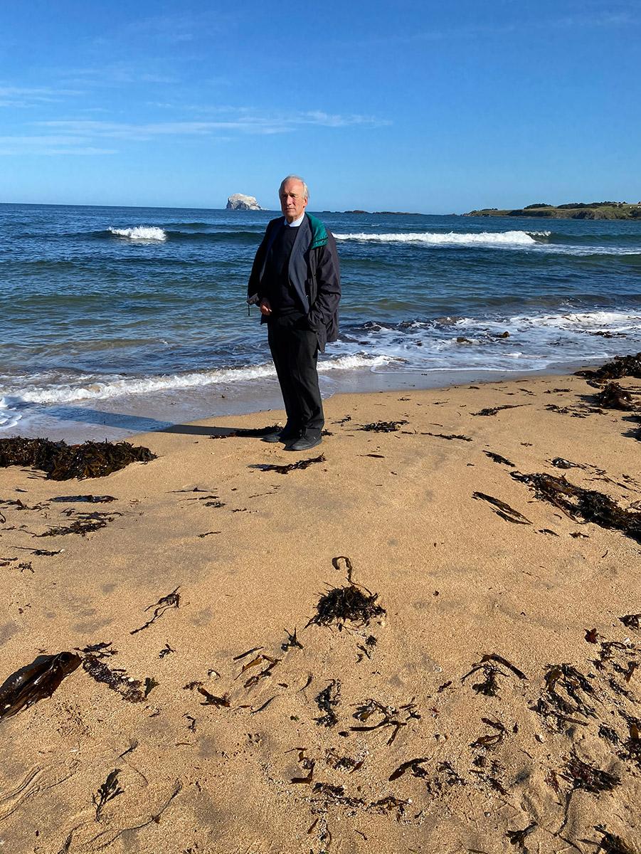 Shirley Addiscombe Rotary marathons in days WEB John W Scotland beach at north berwick
