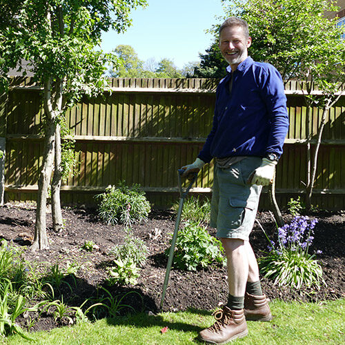 Here's Ian, combining the benefits of nature and volunteering, at our Orpington site